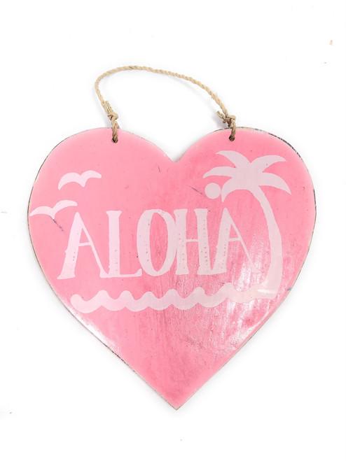 """Aloha"" Heart Sign 5"" - Pink   #snd25116p"