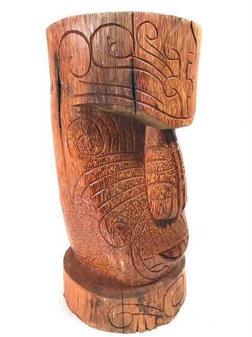 "Moai Tattoo Face Tiki Statue 20"" - Natural Pool Decor | #lbj303850n"