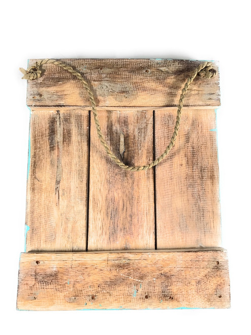"""Love"" Turquoise Distress Sign on Wood Planks 12"" X 9.5"" 