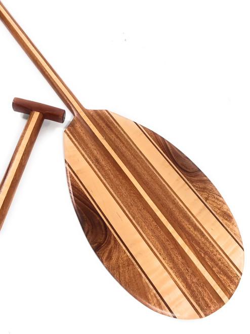"Koa Canoe Paddle 50"" w/ Maple Inlays T-Handle - Made in Hawaii - | #koam011"