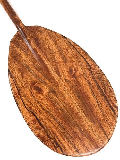 "Owl Design Mango Decorative Paddle 60"" - Made in Hawaii | #koa6015"