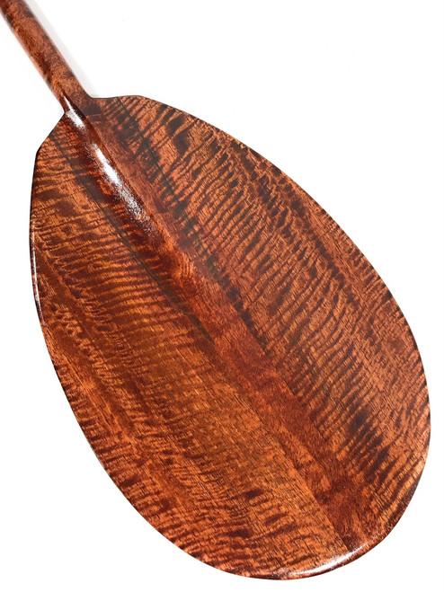 """AAA Grade Tiger Curls Koa Paddle 60"""" - Made in Hawaii   #koa6009"""