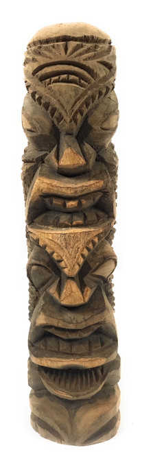 "Love/Prosperity Tiki Totem 14"" Hibiscus Wood - Made In Hawaii 