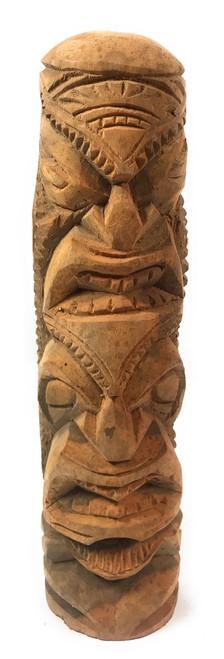 "Love/Prosperity Tiki Totem 14"" Hibiscus Wood - Made In Hawaii   #poko17"