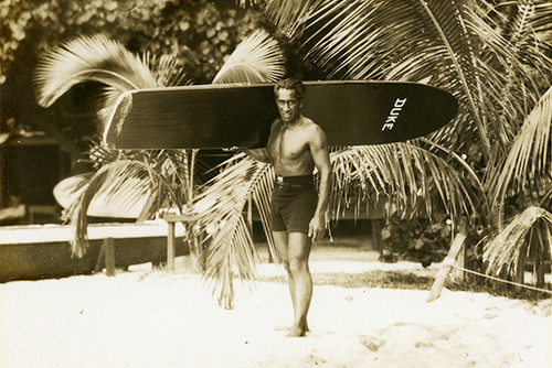"Replica Vintage Wooden Longboard 60"" X 12"" Hawaiian Heritage   #koalb22"