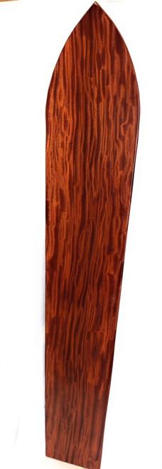 """Curly Koa Surfboard 96"""" X 19"""" Vintage Replica Hawaiian   #koalb39"""