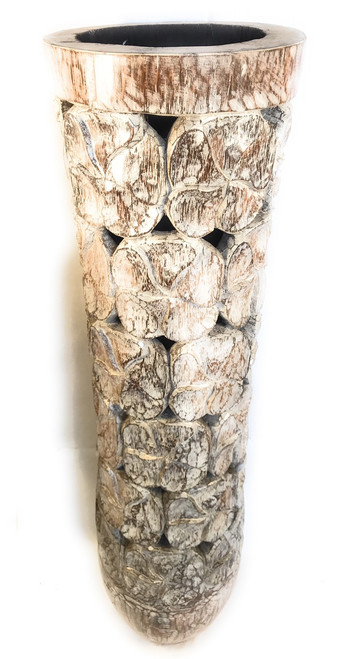 "Copy of Carved Architectural Palm Pot 40"" - Royal Palm 