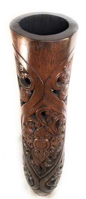 "Carved Architectural Palm Pot 48"" - Royal Palm | #gdn08"