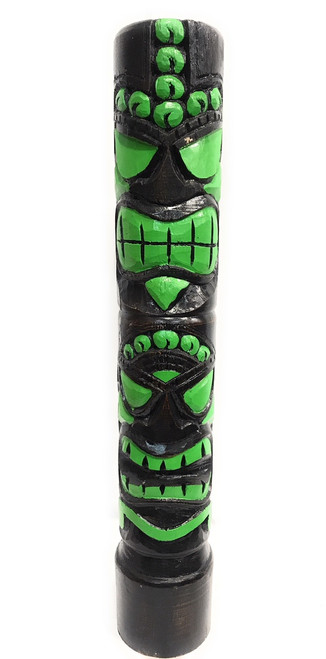 "Love & Prosperity Tiki Totem 40"" Color Splash - Hand Carved 