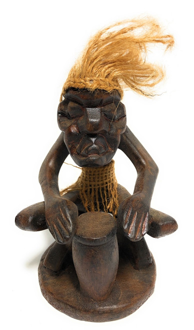 "Drummer Crazy Primitive Dude 7"" - Tribal Decor 