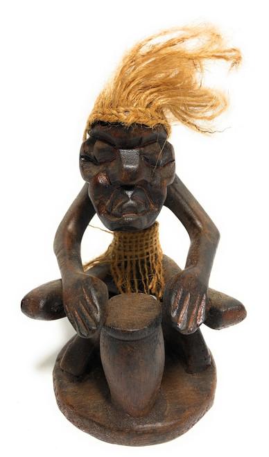 "Drummer Crazy Primitive Dude 7"" - Tribal Decor | #t6152"
