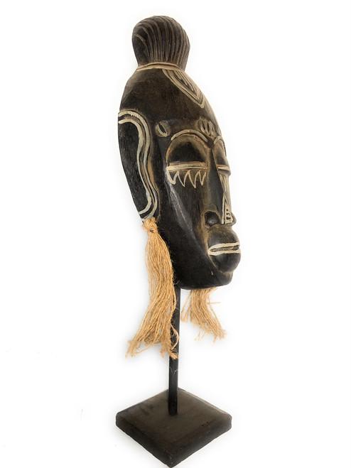 "Papua Guinea Tribal Tiki Mask on Stand 18"" - Primitive Art | #iwtrb2"