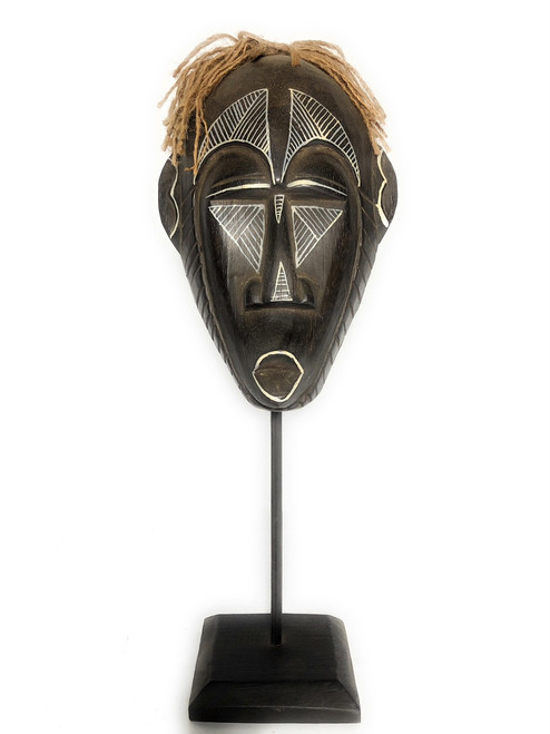 "Papua Guinea Tribal Tiki Mask on Stand 16"" - Primitive Art | #iwtrb3"