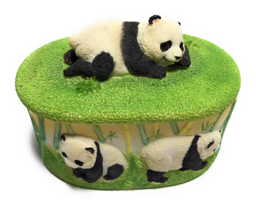 Panda Keepsake Jewelry Box 4"
