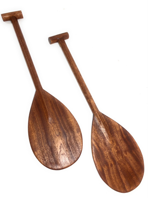 "Pair of Koa Paddles 24"" w/ T-handle Trophy - Made in Hawaii 
