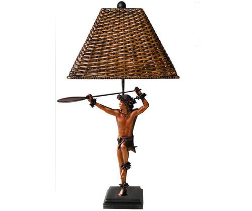 "Hoewaa ""Canoe Paddler"" Lamp 24"" By Kim Taylor Reece   #ktr680034590250"