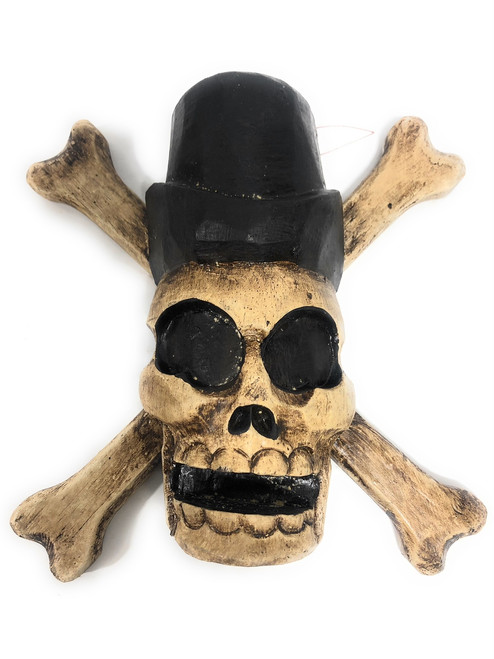 "Cross Bones Hanging Sign 8"" - Taxman Skull Decor | #kng21058"