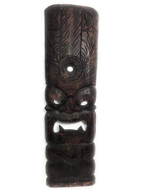 "Premium Kane Tiki Mask 36"" - Walnut Monkeypod Hand Carved | #rti200690w"