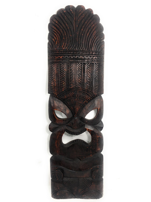 """Premium Ku Tiki Mask 36"""" - Walnut Monkeypod Hand Carved   #rti201790w"""