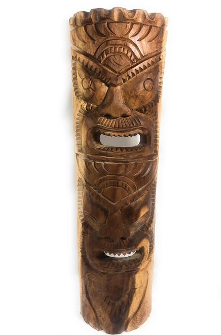 "Premium Love & Prosperity Tiki Mask 40"" Natural - Hand Carved | #rtg1010100n"