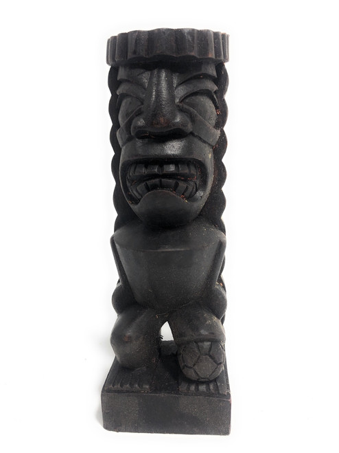 """Tiki Soccer Trophy 8"""" - Lono Hand Carved Sporting Event 