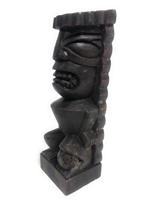 "Tiki Soccer Trophy 8"" - Lono Hand Carved Sporting Event 
