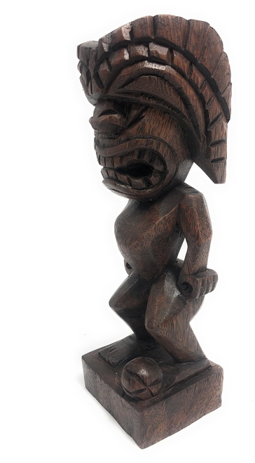 "Tiki Soccer Trophy 8"" - Ku Hand Carved Sporting Event 