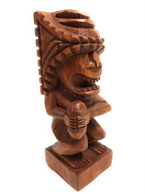 "Tiki Flag Football Trophy 8"" - Kane Hand Carved Sporting Event 