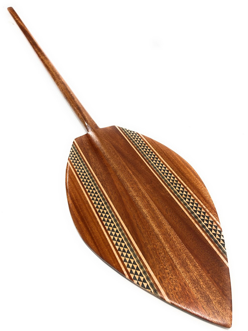 "Alii Design Koa Canoe Paddle 60"" w/ Etching Steersman - Made in Hawaii 