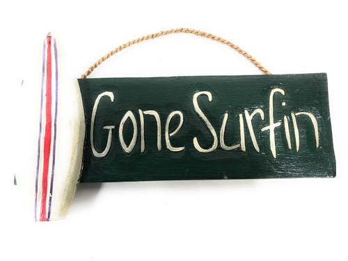 """Gone Surfin' Sign 14"""" - Surfing Beach Decor   #dpt520035g"""