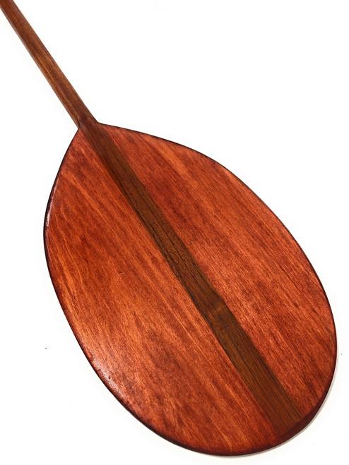 "Extra Large Tear Drop Cherry Wood Canoe Outrigger Paddle 67""   #koa2094"