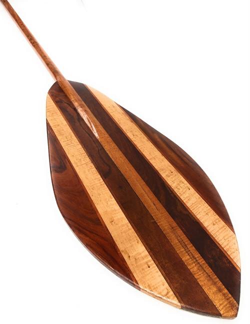 "XXL Koa Canoe Outrigger Paddle 108"" w/ Inlays Steersman   #koa6222"