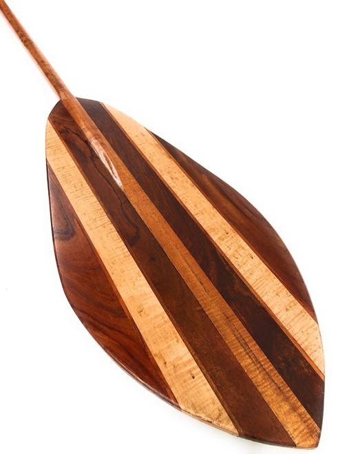 "XXL Koa Canoe Outrigger Paddle 108"" w/ Inlays Steersman | #koa6222"