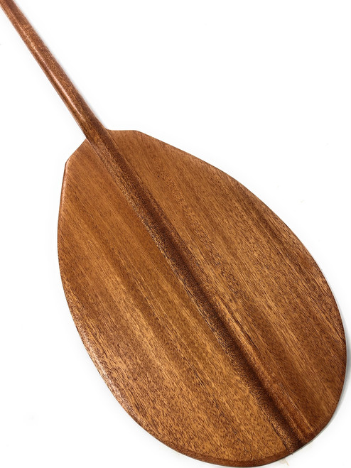 "Traditional Blonde Koa Paddle 60"" Straight Shaft - Made in Hawaii 