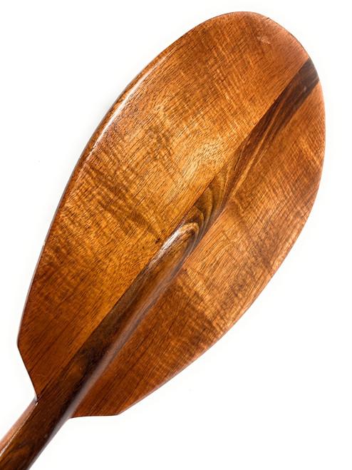"Beautiful Curly Blonde Koa Paddle 60"" Steersman - Outrigger Canoe - Made in Hawaii | #koa6142"