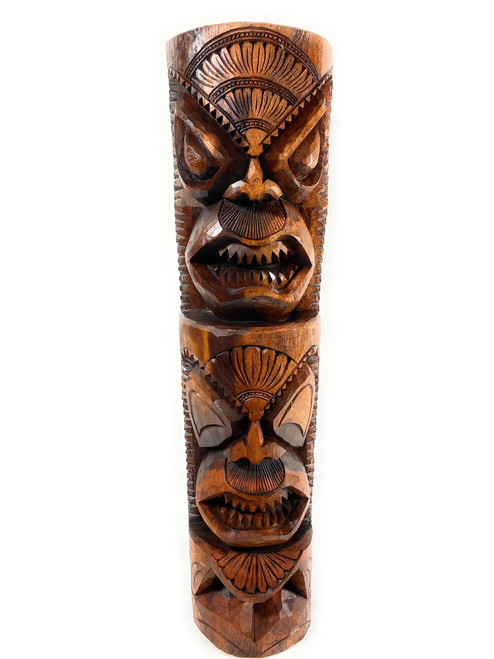 "Premium Love & Prosperity Tiki 40"" - Acacia Wood - Home Decor 