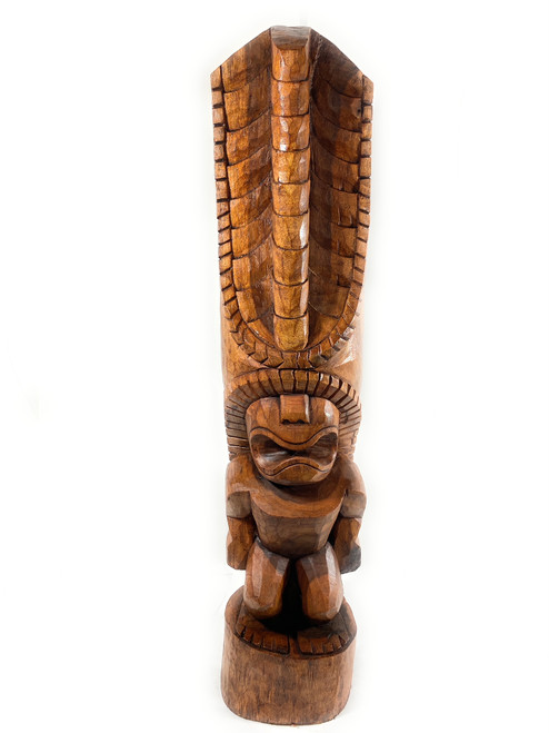 "Tiki Kona Style Lono 48"" - Light Brown Hawaii Museum Replica 