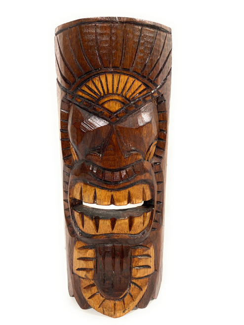 "Chief Tiki Mask 12"" - Kuka Tiki hand Carved 
