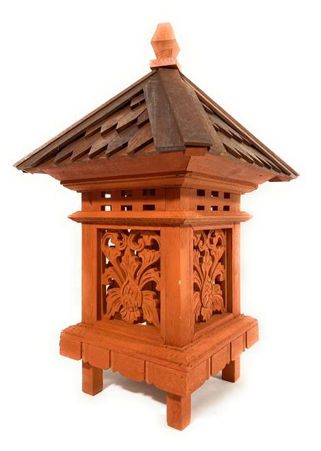 "Balinese Lantern 24"" w/ Shingle Roof & Carved Siding | #tks04"