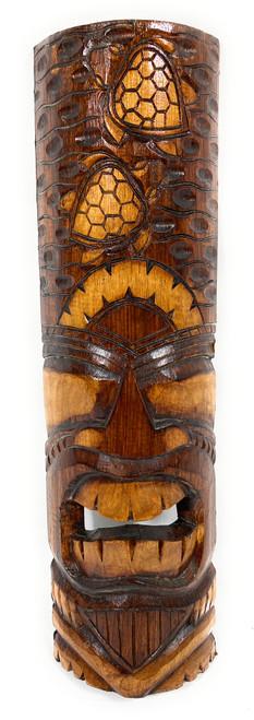 "Love Tiki Mask 20"" - Honu Antique Finish hand Carved | #bag1506250"