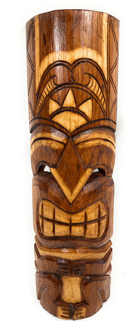 """Happiness Tiki Mask 20"""" - Antique Finish hand Carved 