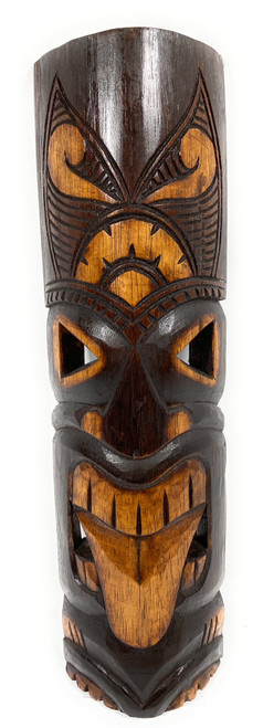 "Warrior Tiki Mask 20"" - Strength Tiki hand Carved 