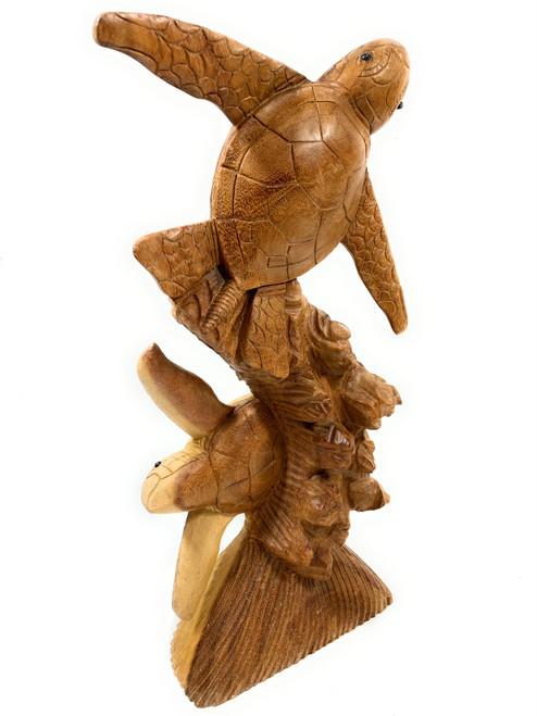 "Exquisite Honu Statue 20"" - Acacia Wood - Home Decor | #rti203950"