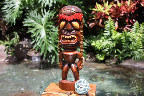 """Lucky Tiki God 16"""" - Hand Carved - Hawaii Treasure   #bag15027c40"""