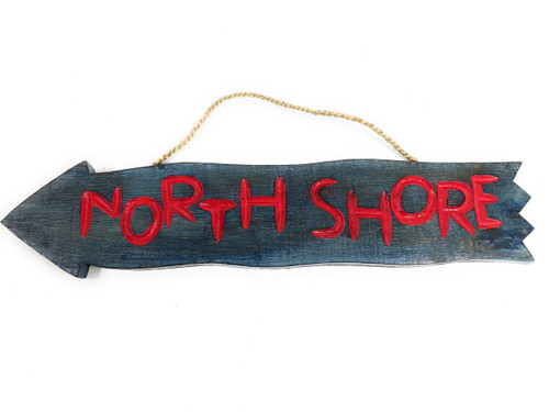 "Northshore Arrow Driftwood Sign 20"" - Tropical Decor 