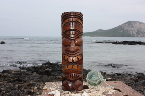 "Love Tiki Totem 10"" - Antique Finish - Hawaii Gifts 