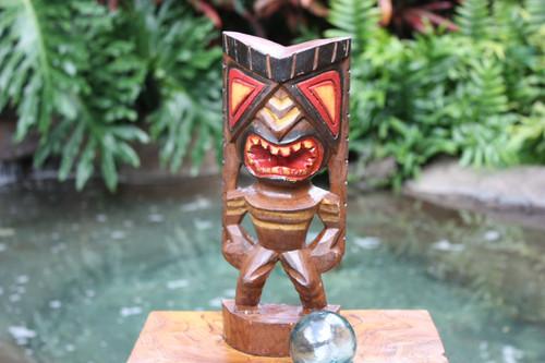 "Happiness Tiki God 12"" - Hand Carved - Hawaii Treasure | #bag15027d30"