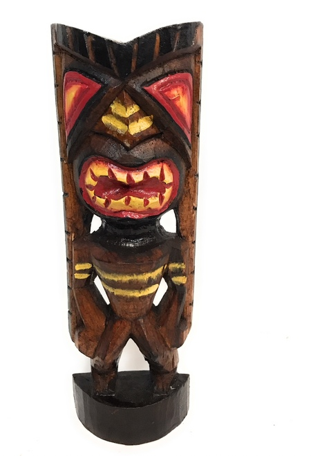 "Happiness Tiki God 12"" - Hand Carved - Hawaii Treasure 