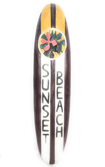 """Sunset Beach Rustic Surf Sign 20"""" - Surfing Accents   #bds12063100"""