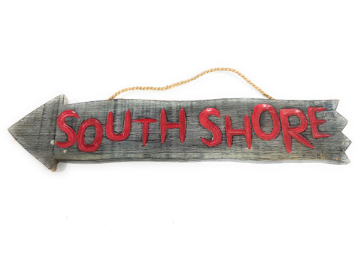 "SouthShore Arrow Driftwood Sign 12"" - Tropical Decor 